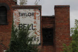 Ghost sign for Taylor Bell Founders, Freehold Street, Loughborough