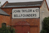 Ghost sign for John Taylor & Co Bell Founders, Cobden Street, Loughborough