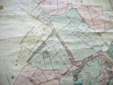 Map of 1842 Rothley Temple Estate Ridings area