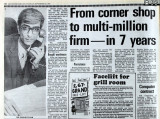 From corner shop to multi-million firm - in 7 years': Leicester Mercury article, 1983